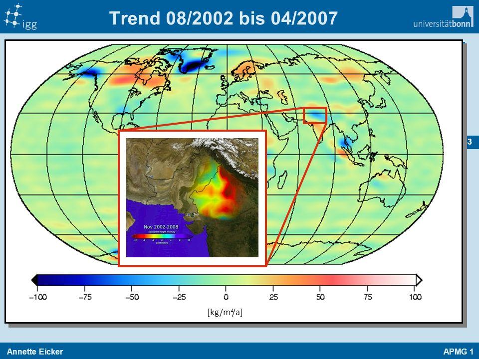 Trend 08/2002 bis 04/2007 [kg/m²/a]